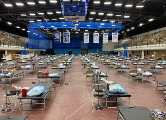 Hospital beds at Moore Field House